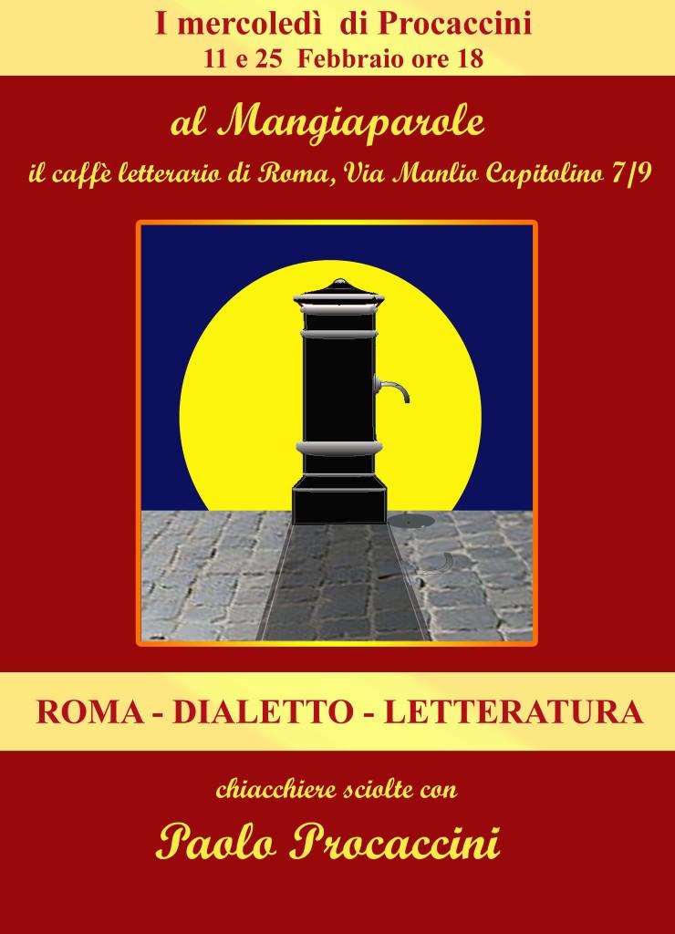LOCANDINA ROMA DIALETTO LETTERATURA febbraio