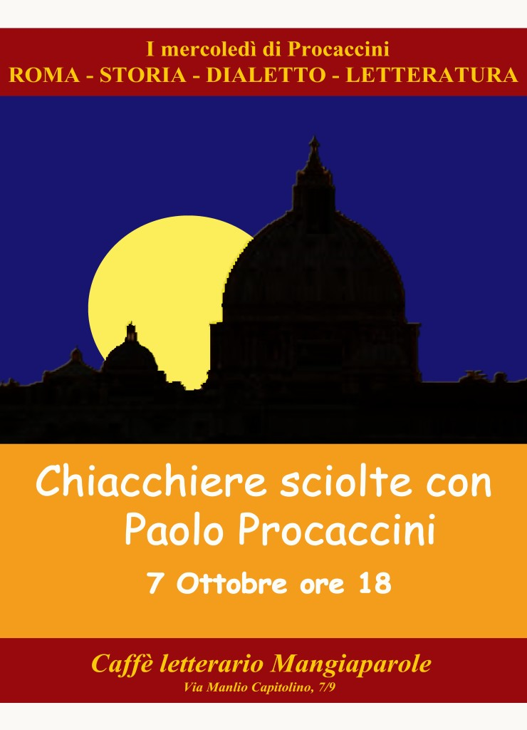 LOCANDINA ROMA DIALETTO LETTERATURA ottobre